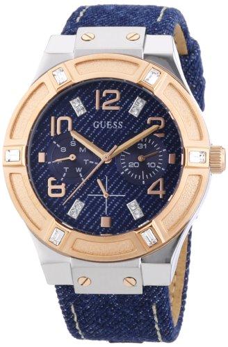 Reloj De Correa Guess Sport Para Ladies Azul MujerCon CueroColor Cuarzo GqzVSpMU